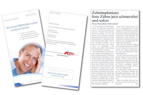 Info-Flyer über die neutrale Absenderkommunikation  der Deutschen Stiftung für Gesundheitsinformatio