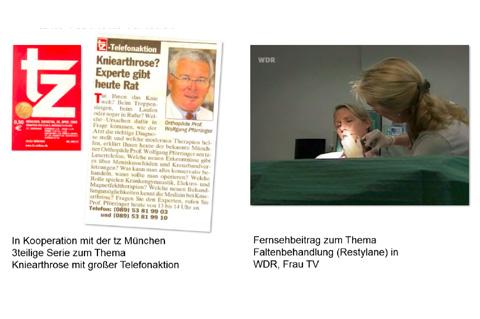 Public Relations für Q-med GmbH,  Hersteller unterschiedlicher Präparate auf Hyaluronsäurebasis